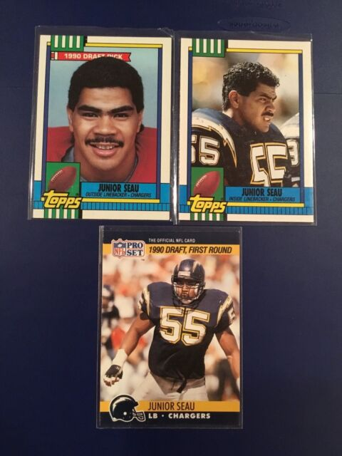 1990 Topps / Pro Set #28T-381-673 JUNIOR SEAU ROOKIE LOT 3 Hall Of Fame LOOK !