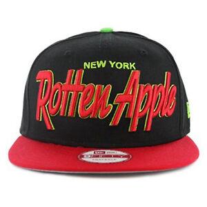 38fe420a6373a New Era 9fifty NY new York Rotten Apple Black Red Snapback Hat Cap ...