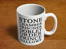Harry Potter Books Stone Chamber Azkaban Goblet Order Prince Hallows Coffee Mug