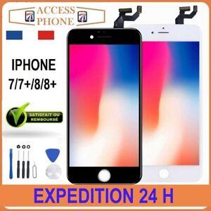ECRAN-LCD-VITRE-TACTILE-SUR-CHASSIS-POUR-IPHONE-7-7-8-8-Noir-Blanc-OUTIL