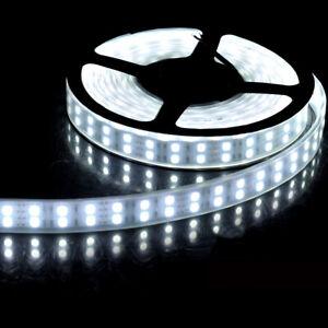 Dual-Row-5M-600Led-SMD-5050-White-LED-Strip-Light-Silicon-Tube-Waterproof-DC-12V