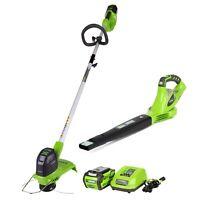 Greenworks STBO40B210 40V Blower-string trimmer