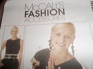 McCalls-Patten-Accessories-scarf-necklace-belt-epaulette-shoe-hippie-decoration