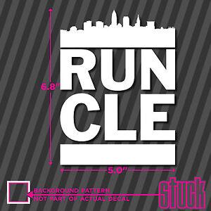 RUN CLE Vinyl Decal Sticker DMC Cleveland Die Cut Runner - Custom vinyl decals cleveland ohio