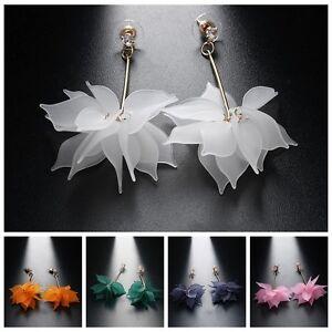 Elegant-Women-Flower-Drop-Long-Dangle-Crystal-Rhinestone-Stud-Earrings-Jewelry