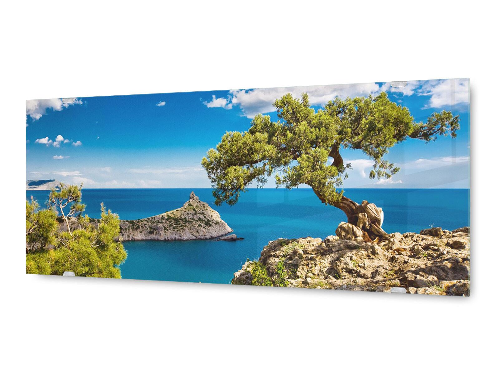Glasbild Wandbild GLX12527211758 Griechenland Europa 125 x 50cm