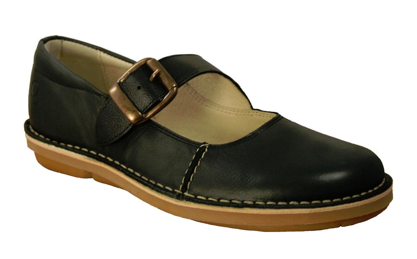 Puntada de oxígeno abajo Mary Jane Zapatos Bonn Negro Negro Negro Tamaños de 36 a 41 (UK 3-7.5)  80% de descuento