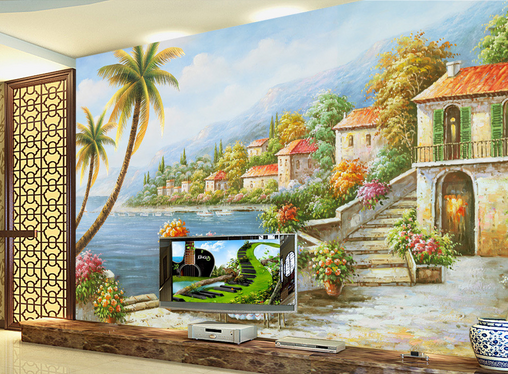 3D Beach House Trees 7 Wall Paper Murals Wall Print Wall Wallpaper Mural AU Kyra