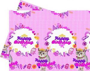 Party Tischdecke Trendy Cat Geburtstag Tisch Deko Dekoration Katzen