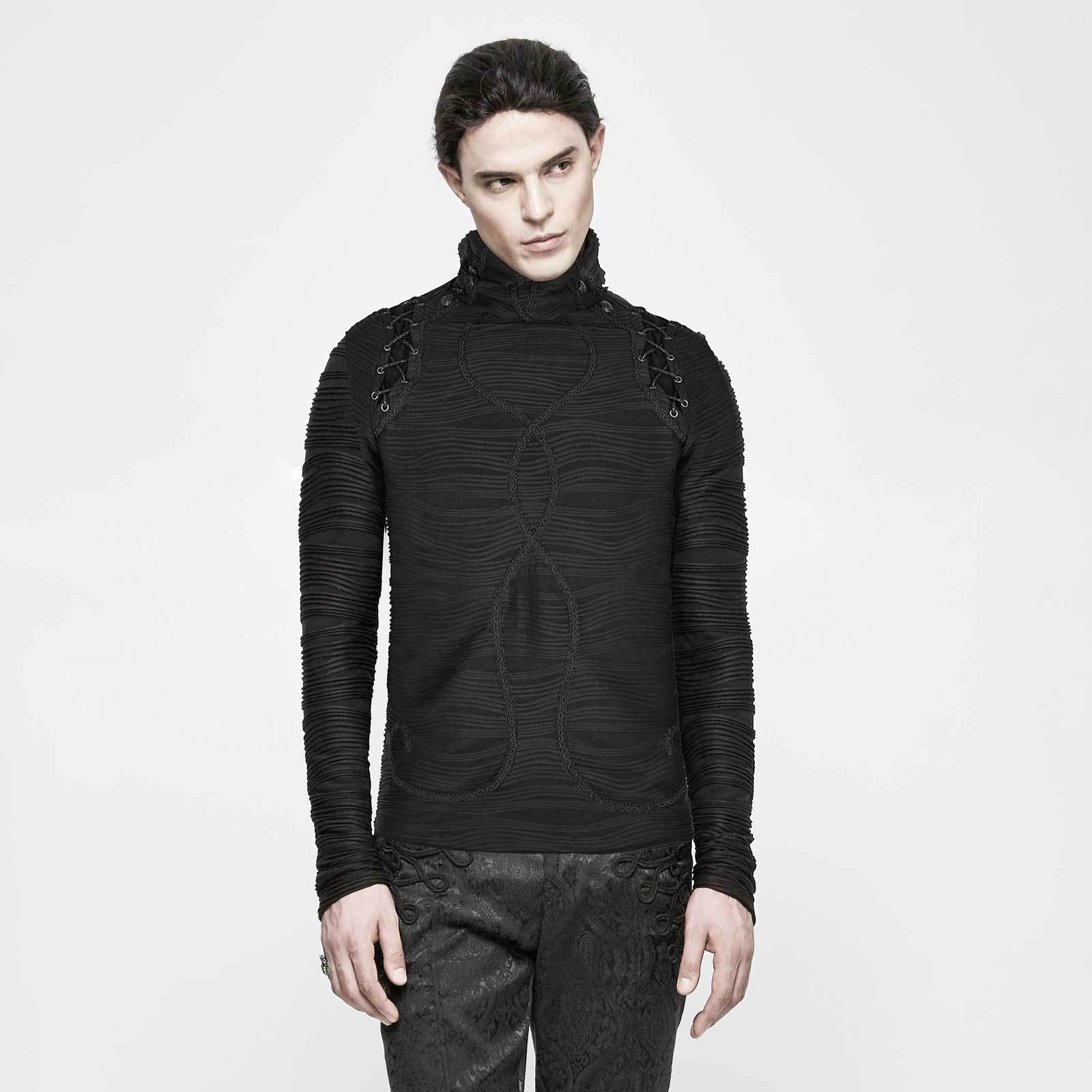 PUNK RAVE Winter Is Coming Top Ungewöhnliches Gothic Longsleeve Herren Sweater