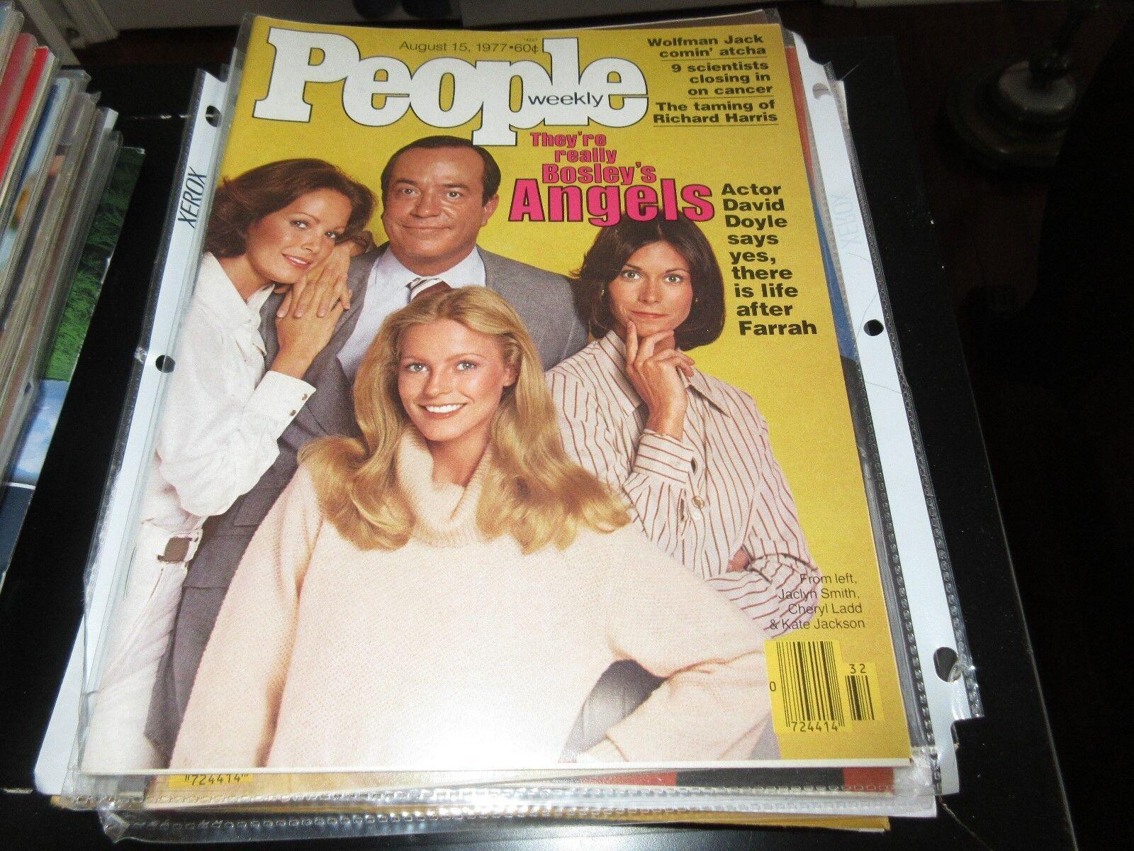 PEOPLE MAGAZINE , 8/15/77 , Bosley's Angels , Farrah ,D