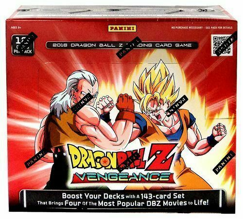 Panini Dragon Ball Z Vengeance Booster Box Sealed New TCG Super Goku Cards DBZ