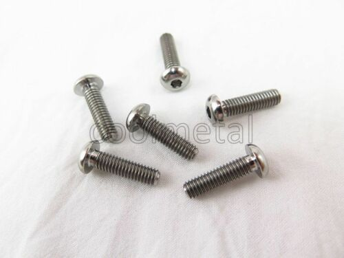 Ti Hex Socket Bolts M4 Socket Button Head Metric Screw M4X6,8,10,12,15,20,25,30