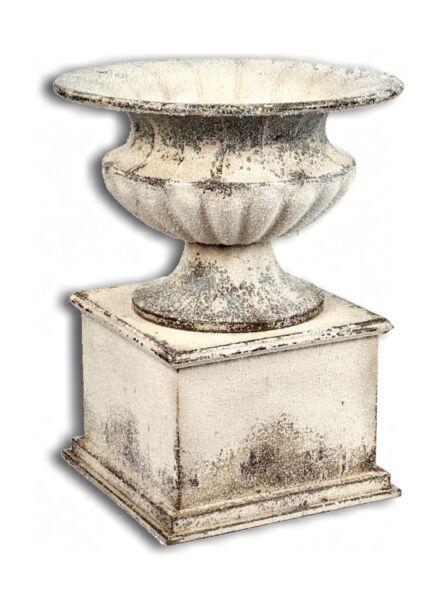 Coquille Vase Avec Culot Coupe Bac à Plantes Hiver Décoration Vintage Shabby Gel