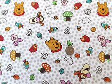 Disney Pooh and friends Fabric fq 50x56 cm 100% Cotton Springs 15016
