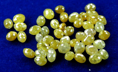 Natural Loose Diamond Long Drilling Egg Shape Yellow Color I3 Clarity 1.00Ct Q56