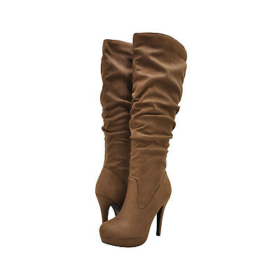 Delicious PARTIAL-S Cherry Women/'s Slouchy Knee High Platform Boots