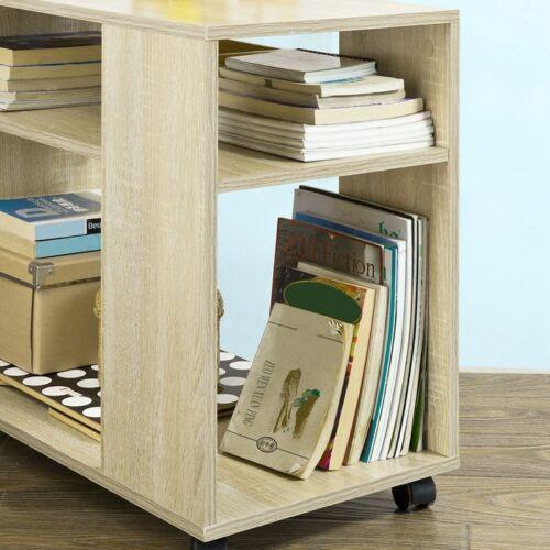 FBT34-N SoBuy® Beistelltisch,Zeitungsständer,Couchtisch,Bücherregal,mit Rollen