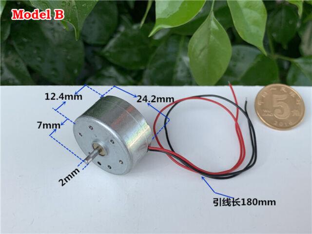 DC 1.5V 3V 5V 6V 6600RPM Micro RF-300C Solar Power Motor Small Round Toy Motor
