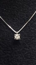 collier girocollo con  punto luce oro bianco 18kt diamante naturale  0,10 ct VVS
