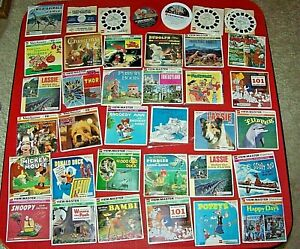 37-Lot-Collection-of-View-Master-Reel-Sets-Children-Kids-Many-Disney-Work-Well