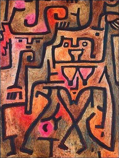 Paul Klee  Forest Witches Keilrahmen-Bild Leinwand abstrakt Klassiker