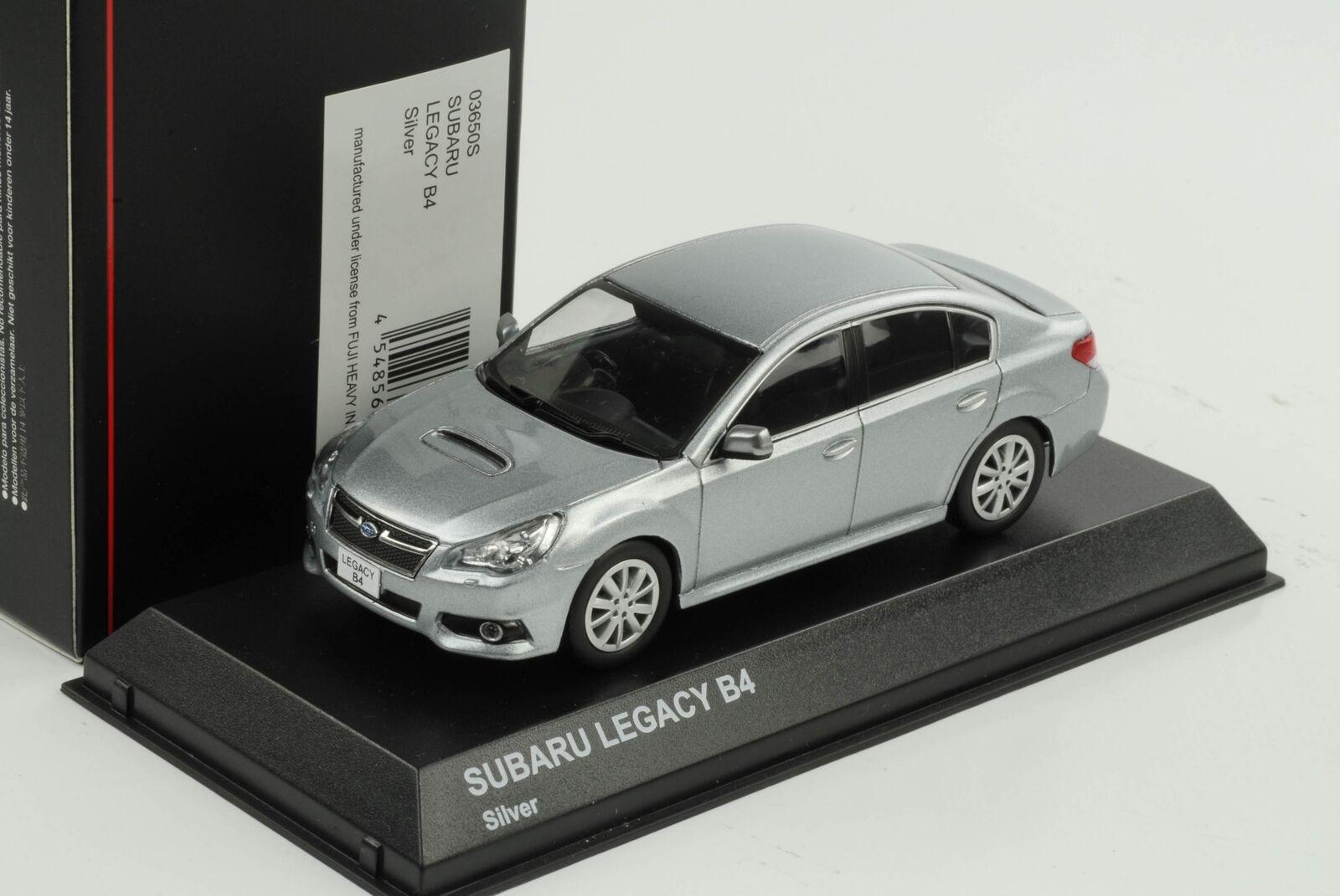Subaru Legacy B4 Glace silver Métallique 1 43 Kyosho Diecast