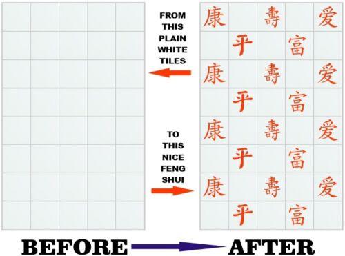 """Feng Shui style autocollants transferts pour 148mm 150mm 6 /""""x 6/"""" pouces tuiles FS02"""