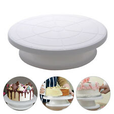 Wood Cake Decorating Turntable Stand Display Revolving Rotating