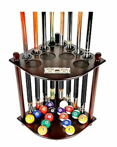 Pool Table Rack Supplies Cue Balls Stick Holder Chalk Billiards Corner Stand NEW
