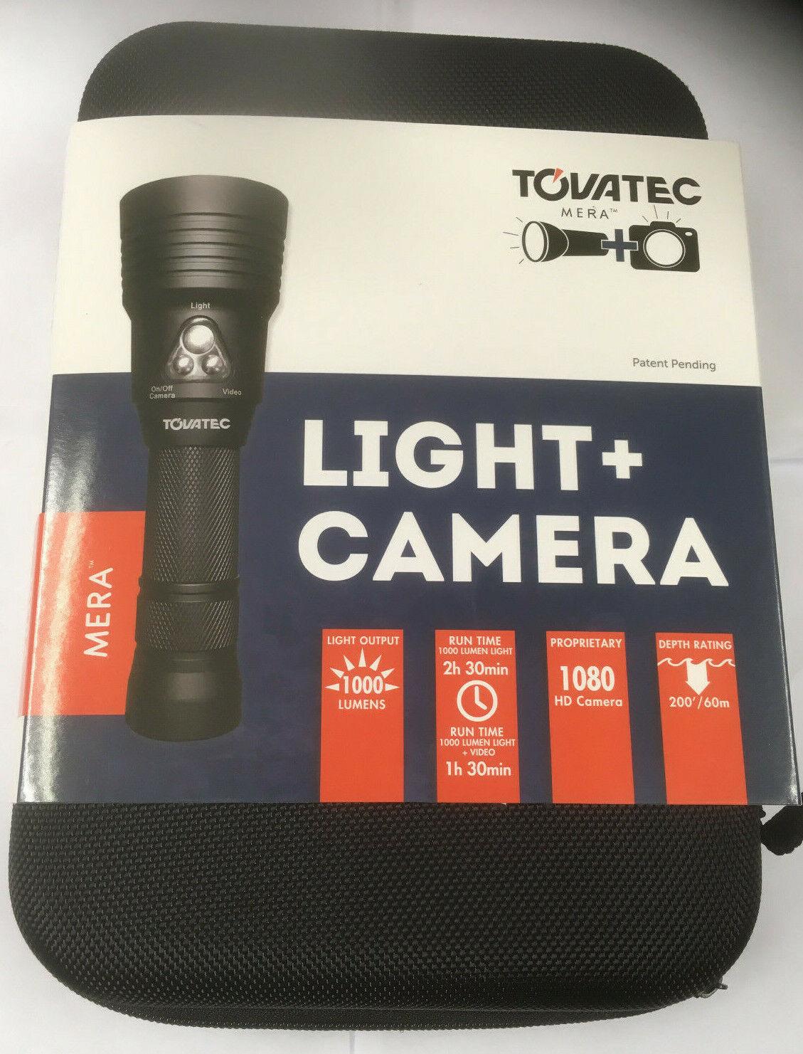 TOVATEC  MERA 1000 LUMENS DIVE LIGHT & BUILT IN HD CAMERA 1080 MP