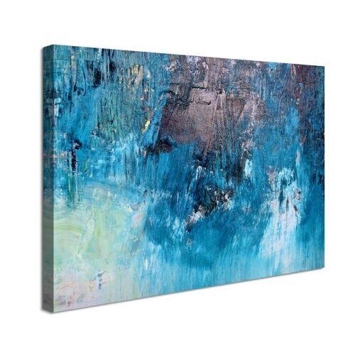 Images Toile 80 x 60 cm BLEU PEINTURE ABSTRAITE 4012