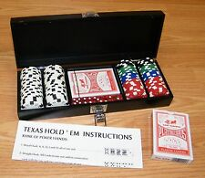 Korbel Brandy Texas Hold ' em Poker Set With Wooden Box / Case **READ**