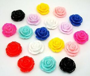 10-20pcs-Carved-Rose-shape-Flower-Coral-Spacer-Jewelry-beads-10color-to-Choose