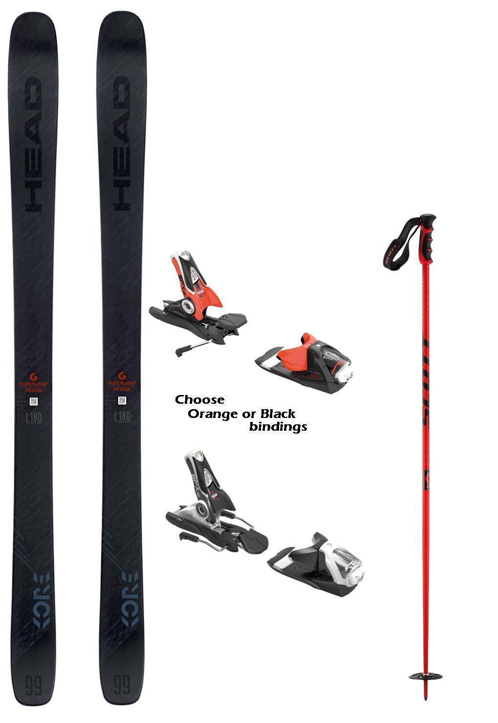 HEAD Kore 99 snow skis 171cm w-bindings (incl POLES at Buy It Now) NEW 2019