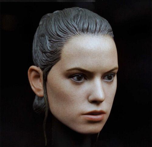 "1//6 Female Head Sculpt Daisy Ridley Rey Head Model F 12/"" Action Figure Body Toy"