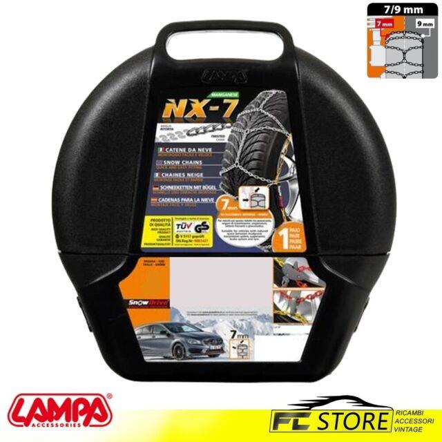 Cadenas de Nieve 7/9mm Lampa NX-7 Homologado Manganeso Grupo 9 para Goma 195r14