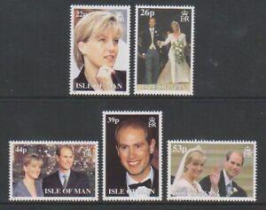 Isle-of-Man-1999-Royal-Wedding-set-MNH-SG-851-5