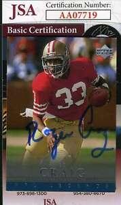 Roger-Craig-1994-Upper-Deck-Jsa-Coa-Hand-Signed-Authentic-Autograph