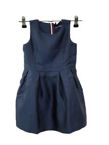 Tommy Hilfiger Madchen Kleid C Satin Dress Slvls Gr 98 Kinder Abendkleid Blau Ebay