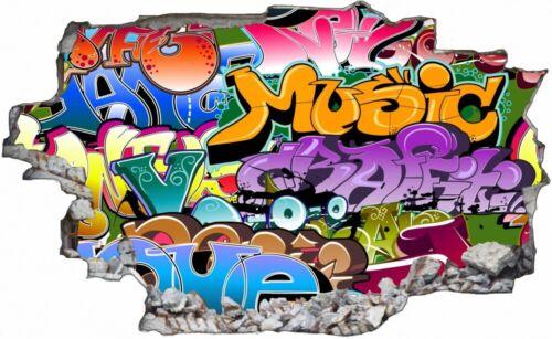 STREET ART GRAFFITI Wall type jour mural sticker autocollant c1426