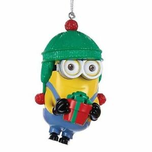 Minion Christmas.Details About New Illumination Despicable Me Movies Dave The Minion Christmas Tree Ornament