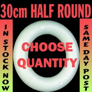 30cm-Polystyrene-HALF-round-rounded-Rings-Wreaths-for-craft-christmas-florist