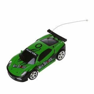 Schwarz Mini RC Auto Racing Car Spielzeug in der Getraenkedose 1:58 C2B3 5X