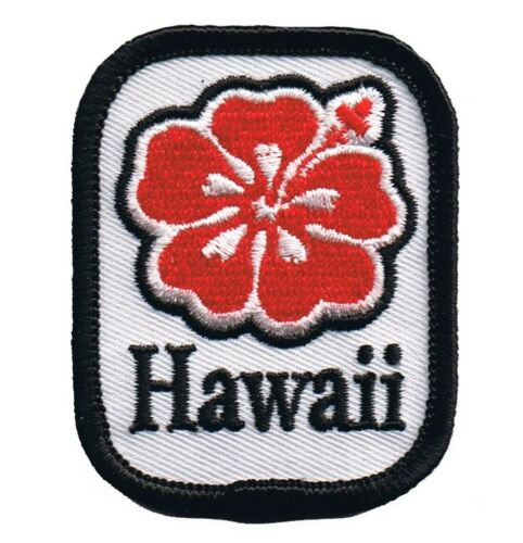 Hawaii Hibiscus Patch Iron on Tropical Flower