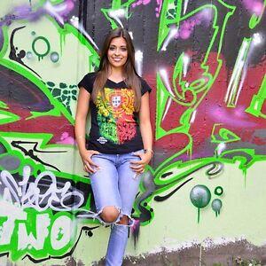 ZOONAMO Damen T-Shirt Portugal Portuguesa neu 100/% cotton Lissabon Porto