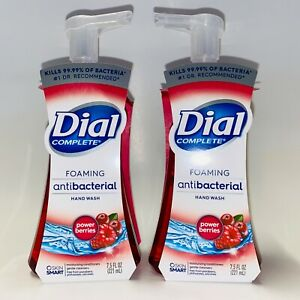 2-Pack-Dial-Complete-POWER-BERRIES-Foaming-Hand-Soap-Wash-7-5-oz-Kills-Bacteria