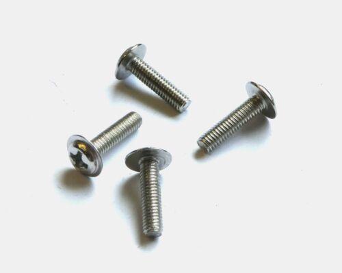 M2 ; M2,5 ; M3-100Stück Stahl vernickelt Linsenschrauben DIN 7985 mit Bund