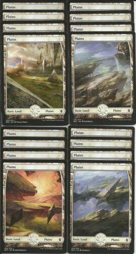 Magic the Gathering 16X PLAINS FULL ART Basic Land Battle for Zendikar MTG