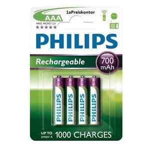 4x-Akku-AAA-Micro-Philips-Rechargeable-700-mAh-HR03-Micro-Akku-4er-Blister